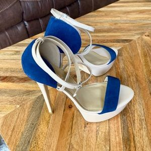 Aldo Navy/Nude Heels with ankle strap